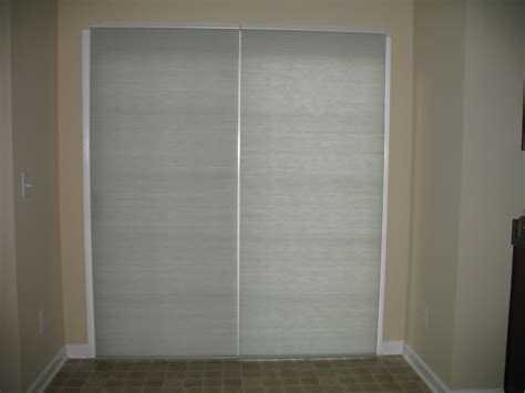 cellular shades for sliding glass door sliding doors with cell shades