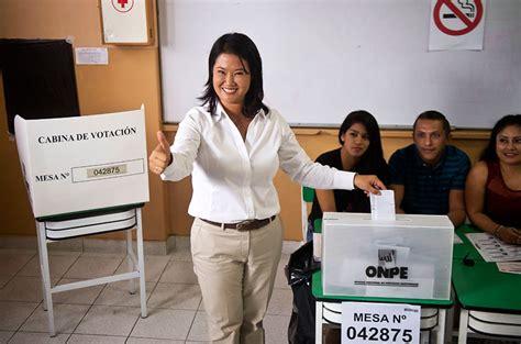 peru resultados electorales de boca a urna keiko fujimori lidera resultados a boca de urna en