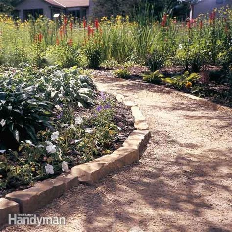 backyard pathway ideas affordable garden path ideas the family handyman