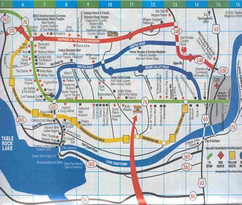 missouri map branson branson map