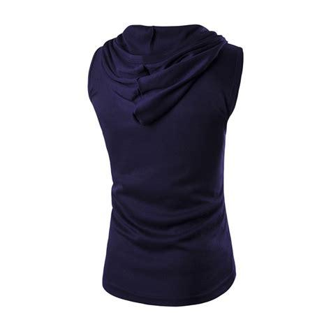 Sports Sleeve Hooded Top mens stylish slim sport hooded hoodie t shirt