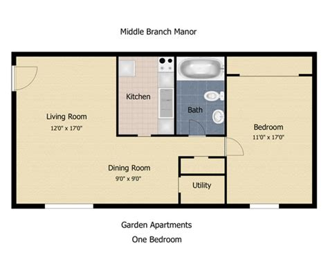 600 Sq Ft Apartment by The Communities At Middle Branch Apartments Amp Townhomes In