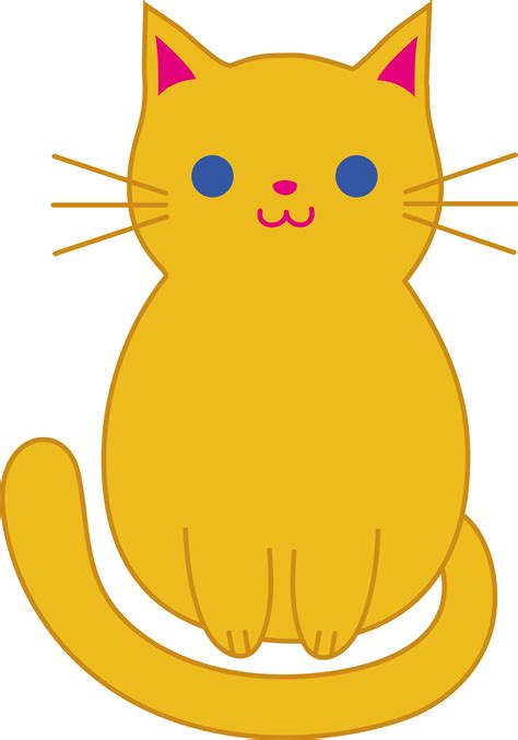 cat clipart orange cat clip free clip
