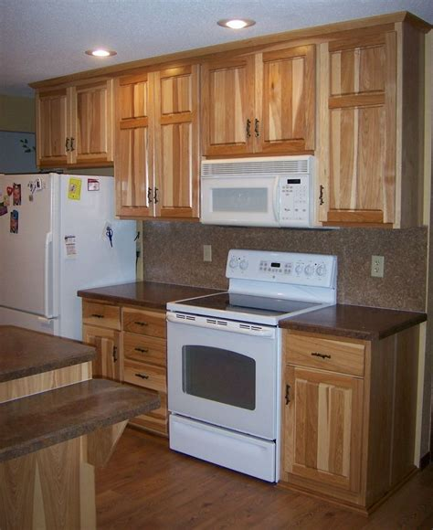 cabinet appliances with brown stained wooden hickory 65 best images about hickory cabinets and on pinterest