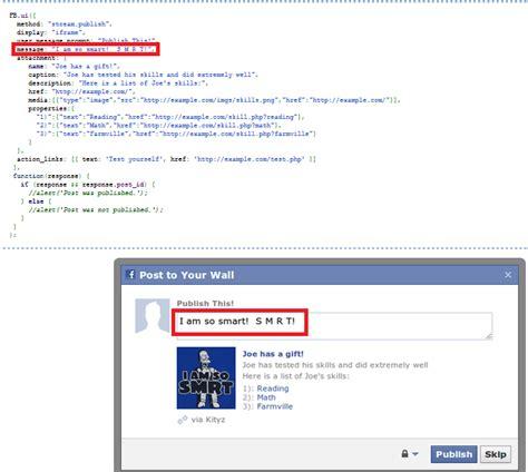 fb ui javascript facebook fb ui feed message obj not working