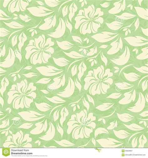Floral In Green abstract seamless pattern with beautiful green floral