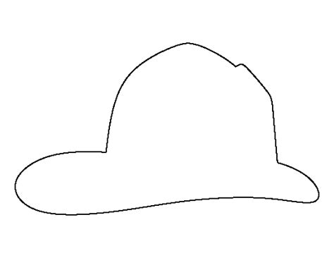 firefighter hat template fireman hat pattern use the printable outline for crafts