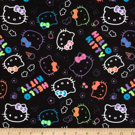 hello kitty neon wallpaper hello kitty flannel neon doodle allover black discount