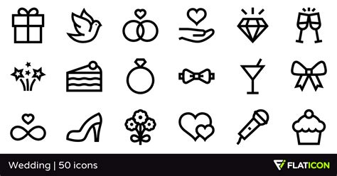 Home Decor Planner wedding 50 free icons svg eps psd png files