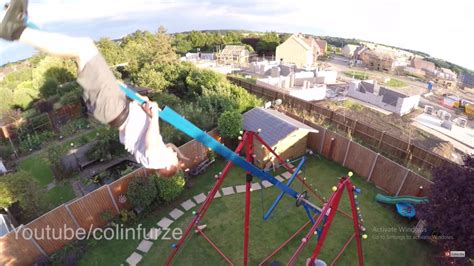 can swing crazy man builds a swing that can take you to 9m height