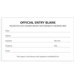 Blank contest entry form template