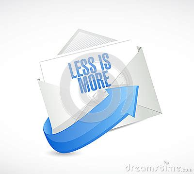 design concept less is more less is more email sign concept stock illustration image