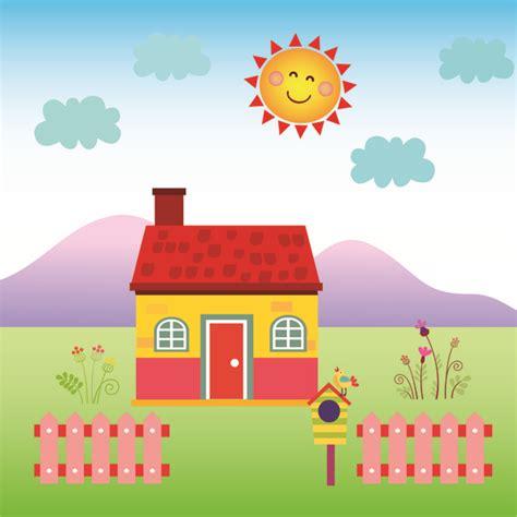 happy house design happy house free vector in adobe illustrator ai ai vector illustration graphic