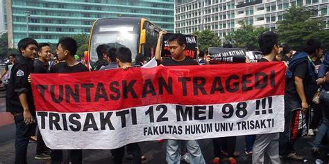 ahok trisakti ahok sebut tragedi semanggi coreng muka indonesia di