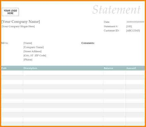 8 blank billing statement simple bill