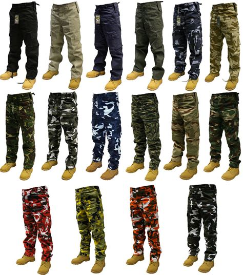 camouflage pattern jeans army cargo camo combat military trousers pants 30 quot 50