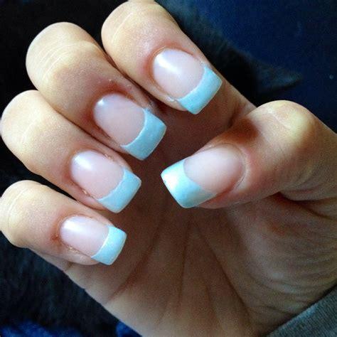blue light for nails simple light blue acrylic nail tip design super super