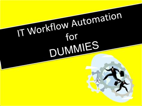 opmanager it workflow automation for dummies