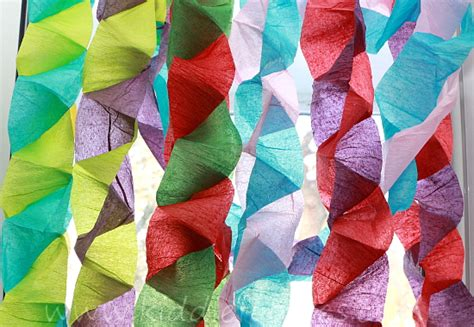 Crepe Paper Crafts - crafts for crepe paper tree