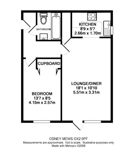 floor plan of one bedroom flat henry road central oxford ox2 ref 50336 oxford