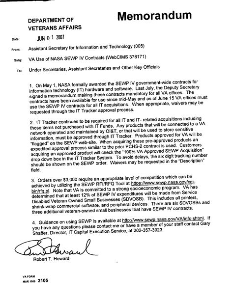 Valuation Memo Template Nasa Will Kick A 14 Billion Governmentwide It Buy This Week Nextgov