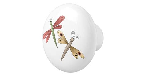 Whimsical Door Knobs by Whimsical Dragonflies Drawer Knobs Ceramic Knob Zazzle