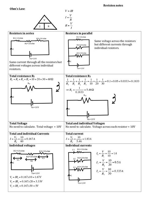 exercises on resistors in series and parallel parallel circuit worksheet worksheet workbook site