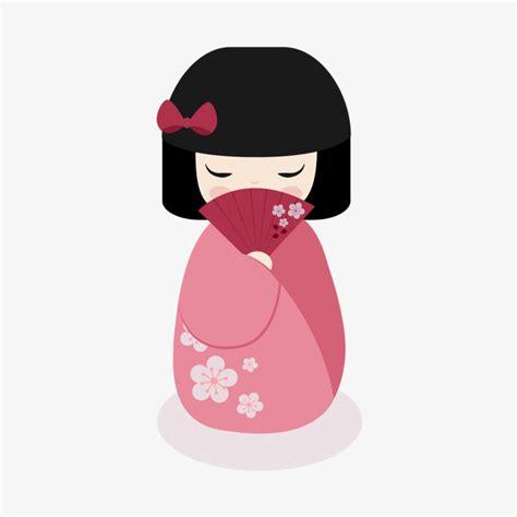 imagenes de geishas japonesas animadas 日本娃娃素材图片免费下载 高清效果元素png 千库网 图片编号7495941