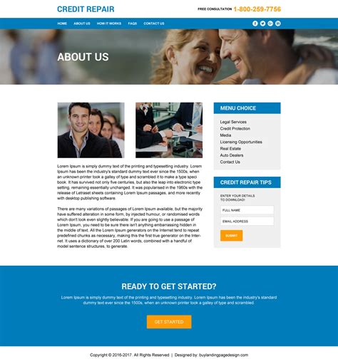 Credit Repair Html Templates To Create Your Brand New Website Credit Repair Landing Page Template