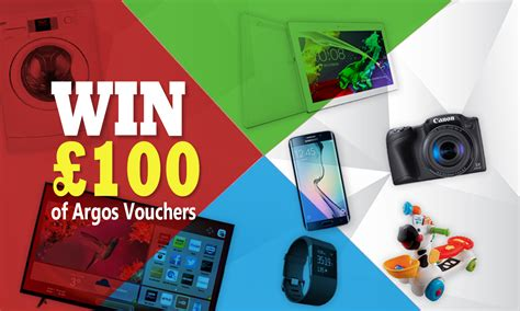 Win 100 Of Vouchers by Win 163 100 Argos Vouchers Free Competitions Winnersville