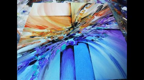 mixing acrylic paint with resin on canvas abstract painting demo 22 abstract blending
