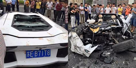 Lamborghini Aventador Crashes Lamborghini Aventador Crashes Into Mud Truck In China