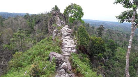 Batu Borneo Kalimantan fenomena batu dinding di rimba borneo kalimantan timur