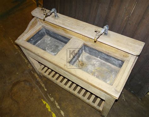 Sink Units Prop Hire 187 Wooden Double Sink Unit Keeley Hire