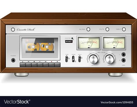 cassette deck vintage analog stereo cassette deck player vector image
