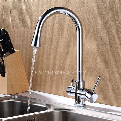 Best Faucets For Kitchen Sink Best Chrome Two Handles Kitchen Sink Faucets For Bathroom