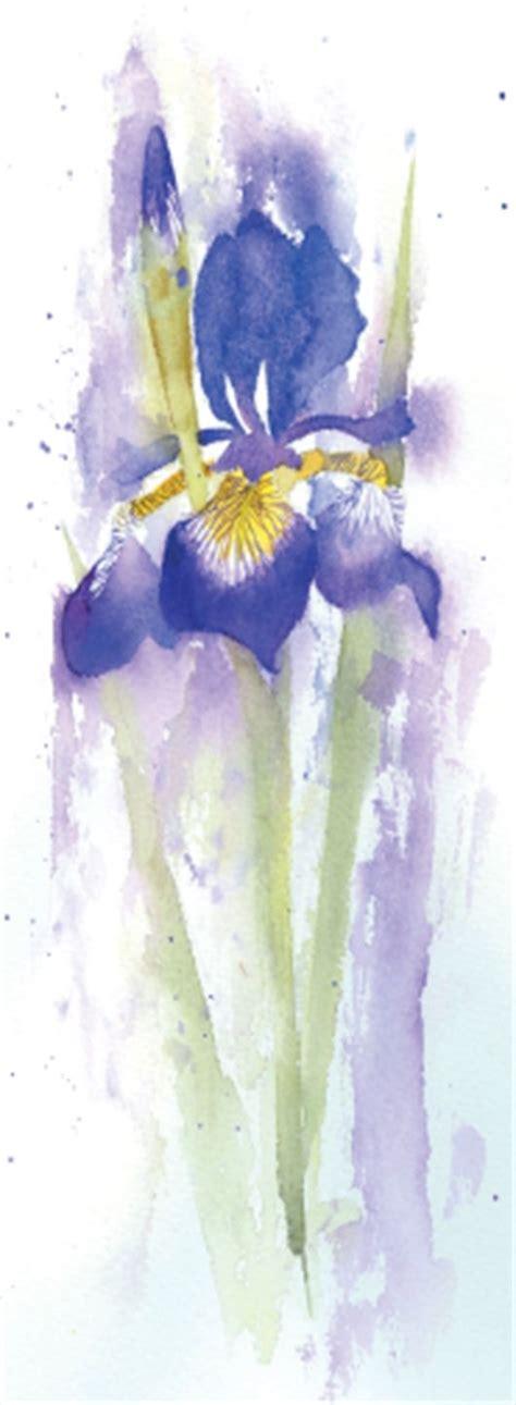 watercolor tutorial iris how to paint an iris in watercolour with rachel mcnaughton