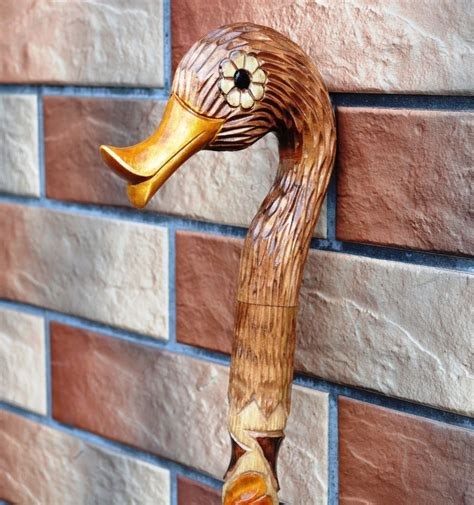 Handmade Canes Wooden - 35 inch duck canes walking sticks wooden handmade sale