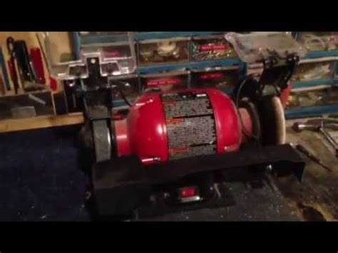 sharpen mower blade bench grinder mower blade sharpening jig completed youtube