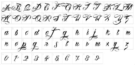 best tattoo font numbers number tattoo fonts elaxsir