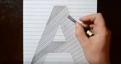 tutorial menggambar tiga dimensi cara menggambar 3d di kertas dengan pensil untuk pemula
