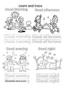 greetings for kids worksheet free esl printable