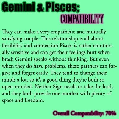 pisces and gemini quotes quotesgram