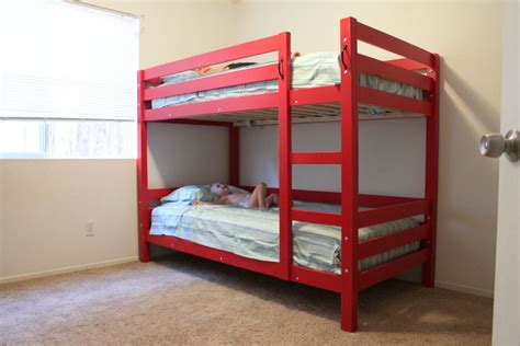 build a bunk bed easy to build and unbuild bunk beds kreg owners community