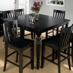 black tall kitchen table set jofran new barn black counter height table and  chairs at hayneedle
