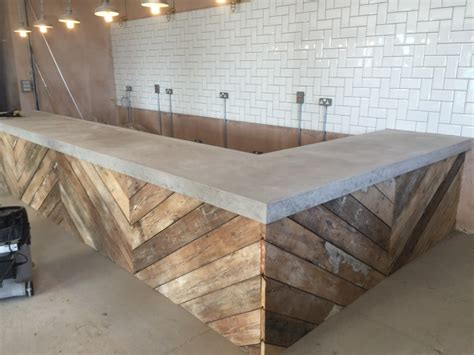 polished concrete bar top the academy espresso bar floored genius