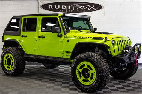 custom jeep 2017 jeep wrangler rubicon unlimited hyper green