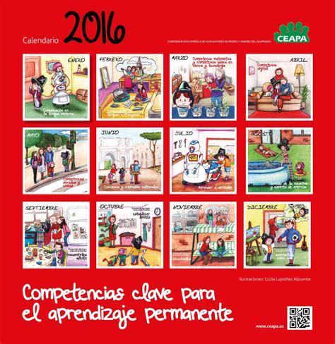 Calendario De Padres Calam 233 O Calendario Competencias Ceapa 2016