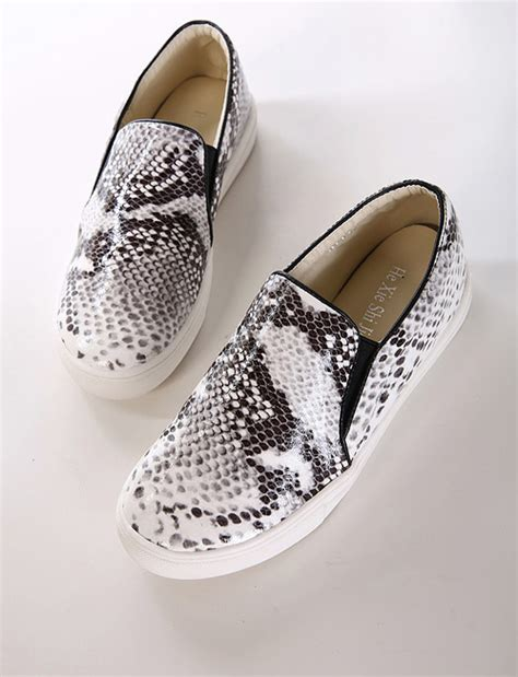 snake print slip on sneakers snake print slip on shoes 183 fashion struck 183 store