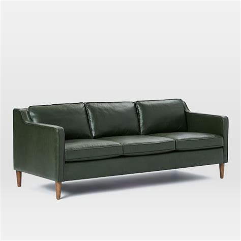 elm hamilton leather sofa hamilton leather sofa 81 quot elm